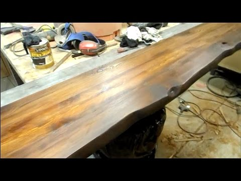 Woodworking Simulated Walnut Live Edge Slab Top