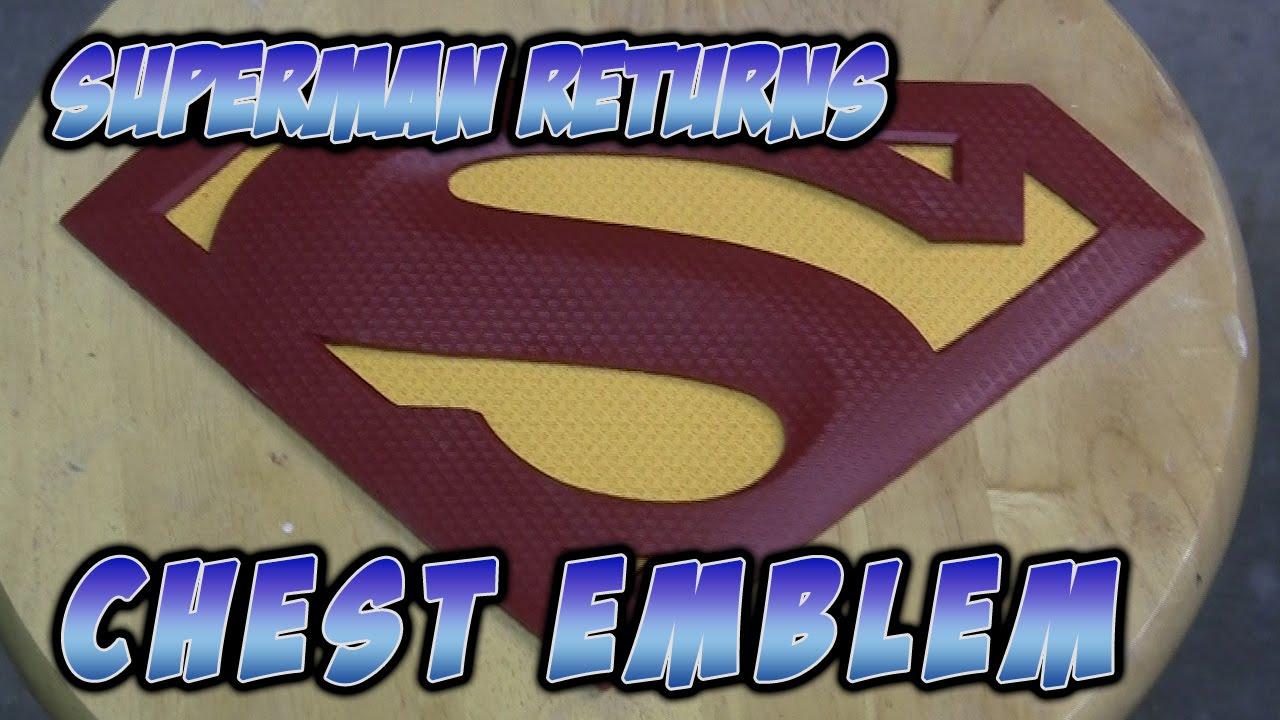 Superman Returns Chest Emblem Replica Youtube