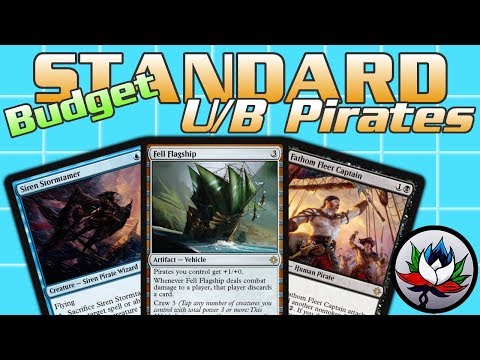 "MTG – U/B Pirates ""Budget"" Tempo Standard Deck Tech for Magic: The Gathering – Ixalan!"