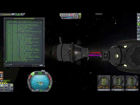 RAMP performing an automatic launch, rendezvous and docking in KSP with kOS