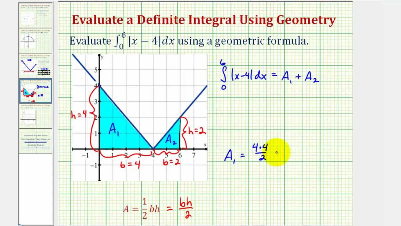 Ex: Definite Integration of an Absolute Value Function Using ...