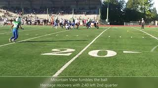Highlights: Mountain View win over Heritage 49-20