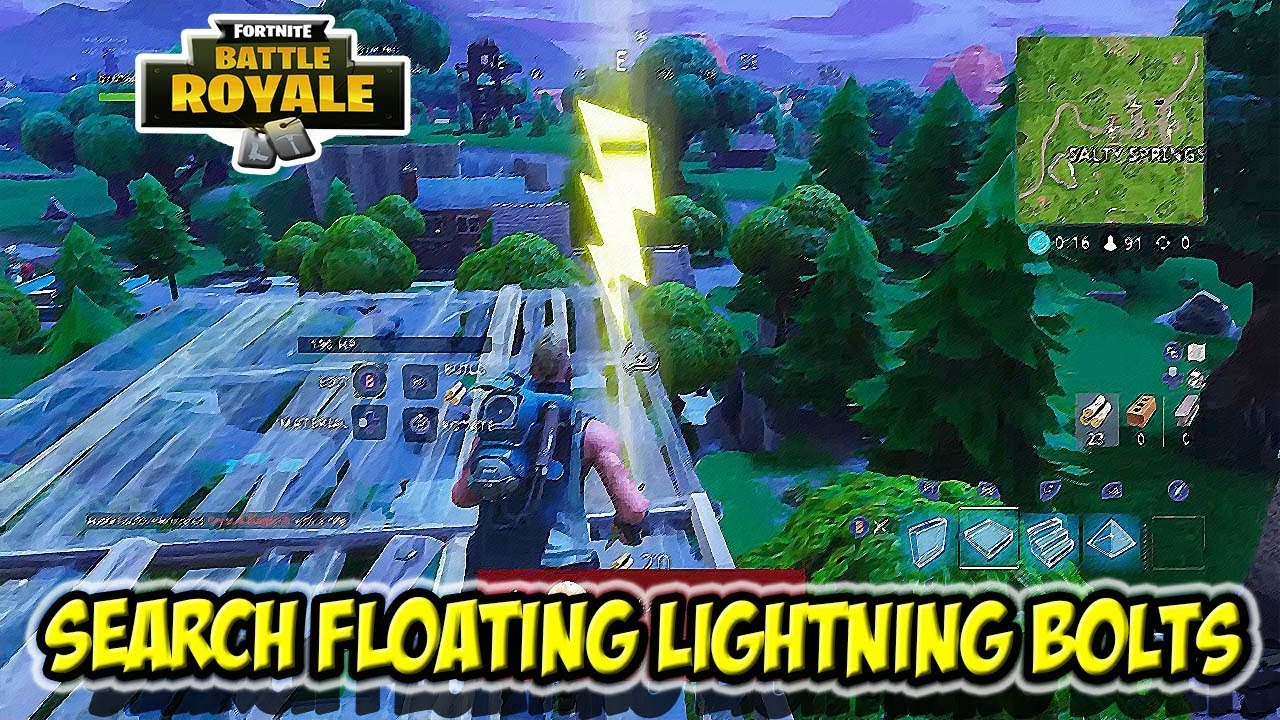 search floating lightning bolts all locations fortnite season 5 week 1 challenges - fortnite search floating lighting bolts