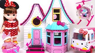 Solla~ Come to my home! Surprise eggs play at the Hello Kitty Doll's House - PinkyPopTOY