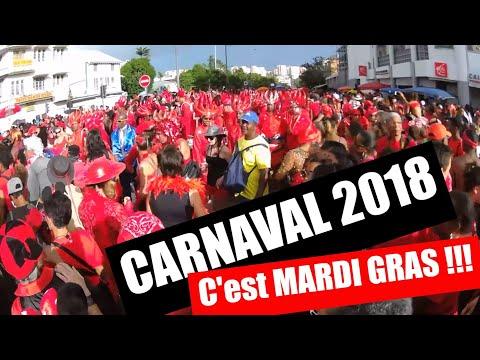 Carnaval Martinique 2018 - Mardi Gras en mode 100% vidés à Fort-de-France ! (Rouge et Noir)