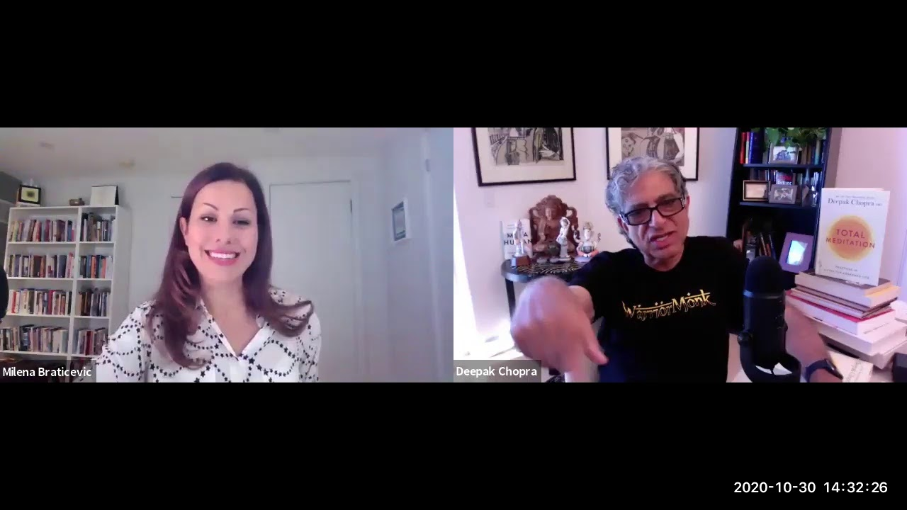 Dr. Deepak Chopra interviews CIHS graduate Dr. Milena Braticevic