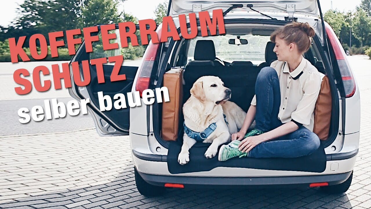 kofferraum schutz f r hunde selber bauen hund im auto transportieren youtube. Black Bedroom Furniture Sets. Home Design Ideas