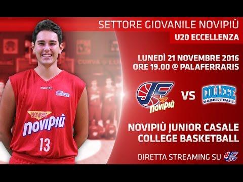 [Under 20 Eccellenza] Novipiù Casale - College Basketball LIVE