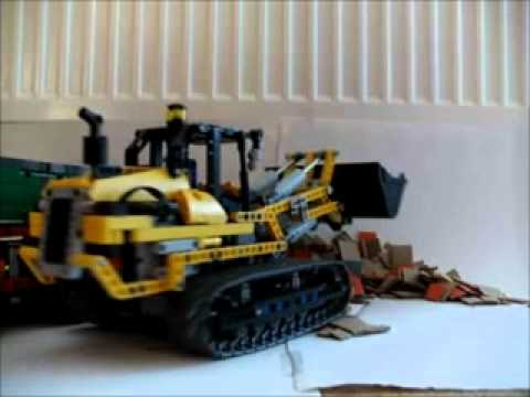 lego technic 8043 8043 b und man 6x4 kipper in action. Black Bedroom Furniture Sets. Home Design Ideas