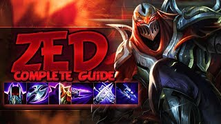 ZED GUIDE [FULLY DETAILED] SEASON 9 - Combos, Tips & Tricks, Best Outplays - League Of Legends