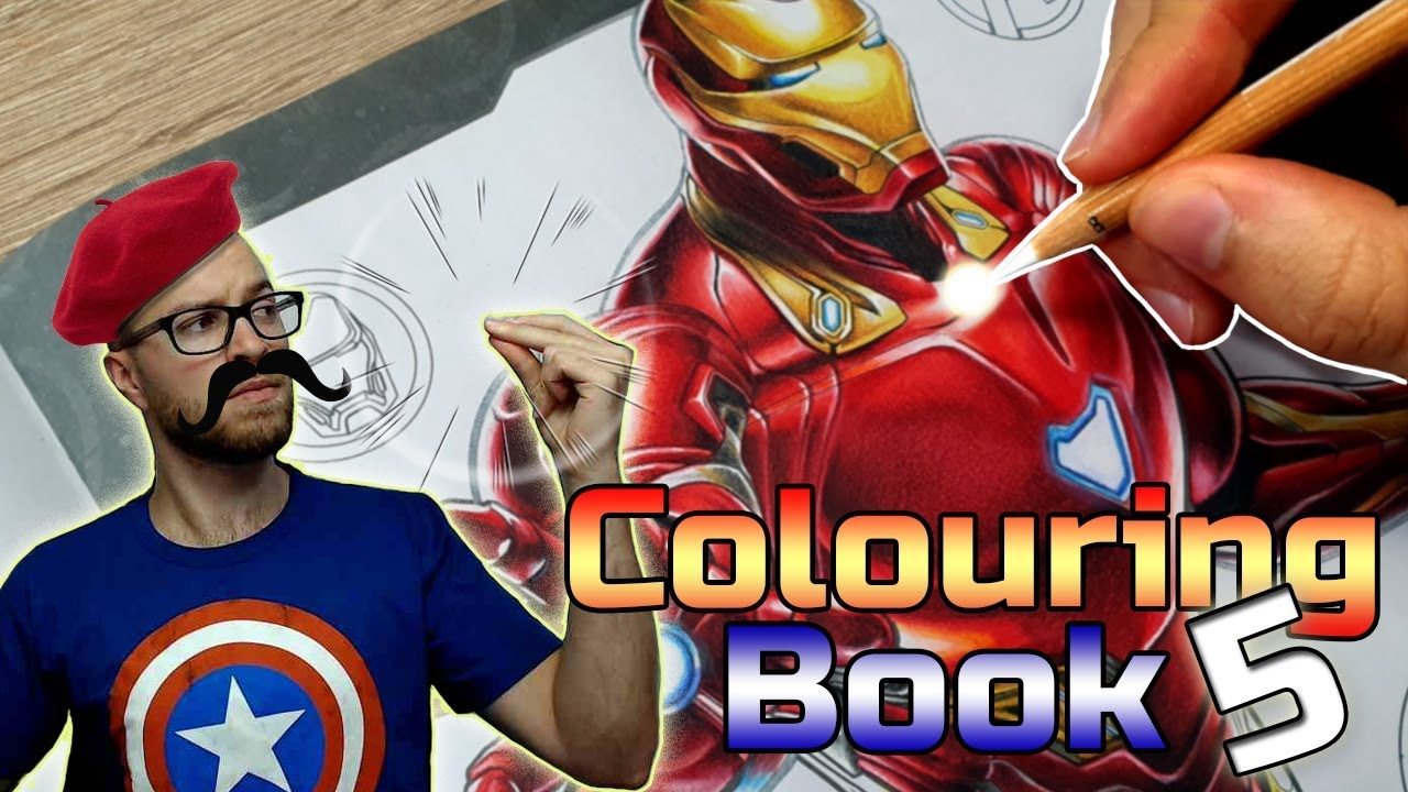 Professional Artist Colours a CHILDRENS Colouring Book..? | Iron Man | 5