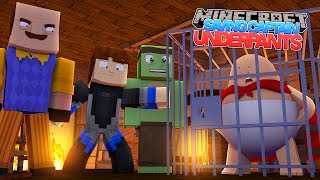 SAVING CAPTAIN UNDERPANTS FROM THE EVIL NEIGHBOR - Minecraft w/ Tiny Turtle