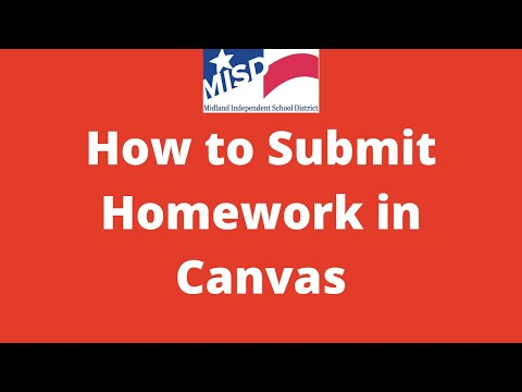 How To Submit An Assignment In Canvas