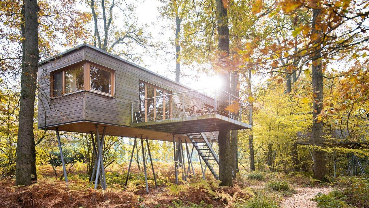 Architektur-Fotografie von Baumhäusern beim Resort Baumgeflüster in Bad Zwischenahn 1