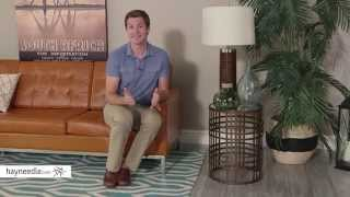 Innerspace Barrel Accent Table With Weave - Antique Gold - Product Review Video