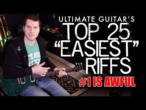 Ultimate Guitar's Top 25 Easiest Guitar Riffs (Playing after one listen)