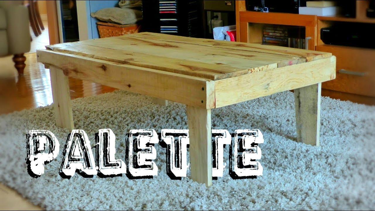 fabriquer une table basse rustique en bois de palette
