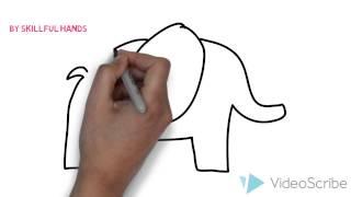 How to Draw an elephant (for Kids) / Как нарисовать слона (Для детей)(Drawing Channel - https://www.youtube.com/channel/UCaZm6IvtL9zNeDwQi571asA/videos Канал для рисования ..., 2015-02-22T15:38:39.000Z)