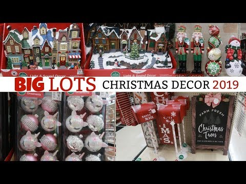 BIG LOTS CHRISTMAS DECOR 2019/ MINI VILLAGE & MORE
