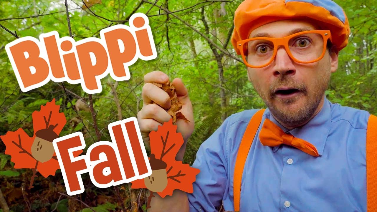 Blippi Creates Art with Autumn Leaves | Learning Colors for Kids | Educational Videos For Kids