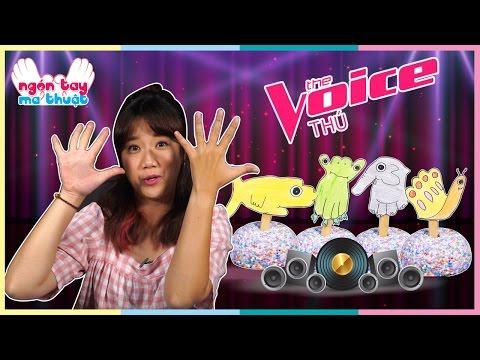 The voice thú | Vẽ con vật bằng tay | Hand Print Animal | Vannie in Wonderland