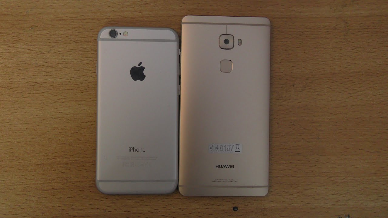Huawei Mate S vs iPhone 6 - Speed & Camera Test