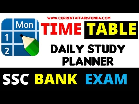 Daily Time Table Plan for Every Competitive Exams   SSC   BANK   Other Govt Exams