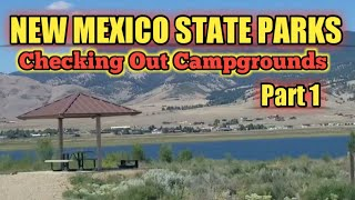 NEW MEXICO STATE PARKS: Checking Out Campgrounds PART 1
