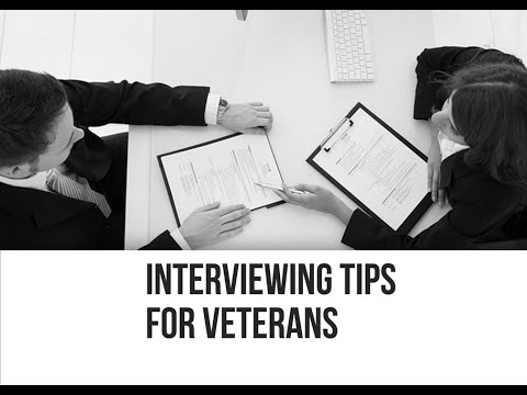 Interviewing Tips for Veterans - YouTube