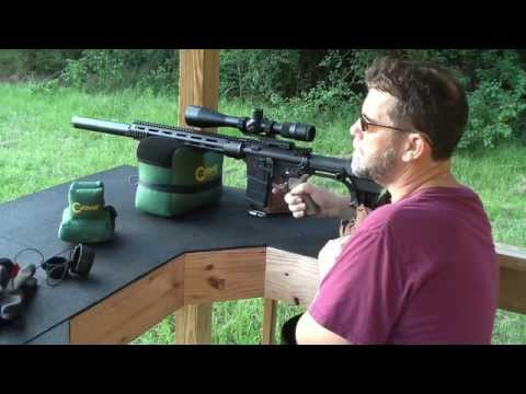 AR 15 Form 1 home built suppressor accuracy test Note: Audio is from Camera set at 100 yards out