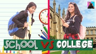 STUDENT LIFE - School vs College l Funny Videos l Ayu And Anu Twin Sisters