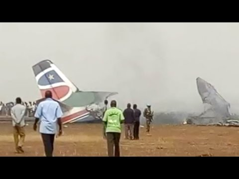 Plane carrying 44 people crashes at South Sudan airport
