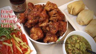 Easy way to prepare Tasty  Fried Turkey Tails and Wings  -   tsofichofi - Ghana best street food