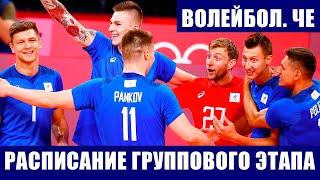 Волейбол Мужской чемпионат Европы 2021 Расписание всех матчей на групповом этапе турнира