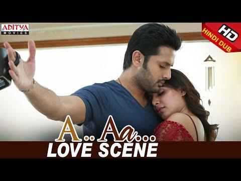 Nithiin Samantha Love Scene | Nithiin, Samantha | Trivikram | A Aa (Hindi Dubbed Movie)
