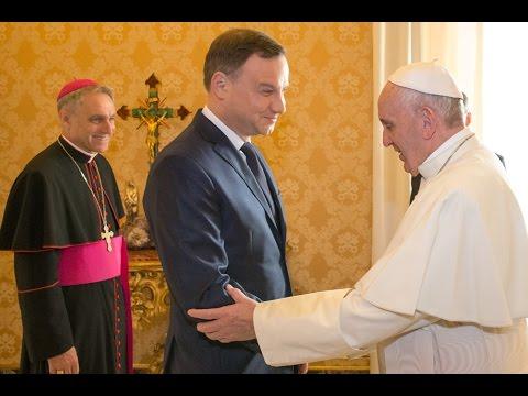 Prezydent Andrzej Duda na audiencji u papieża Franciszka ...