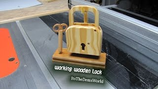 Working Wooden Lock - Show And Tell