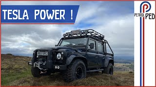 *EPIC* 450hp Tesla Powered 'Spectre' Defender - Driven up a Mountain !