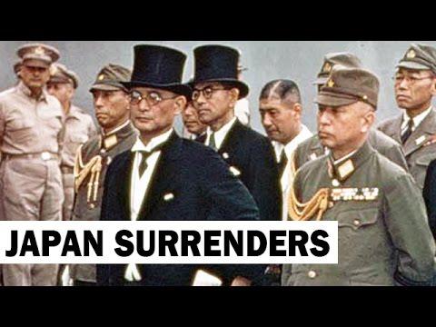 Japanese Sign Final Surrender   1945   World War 2 Newsreel
