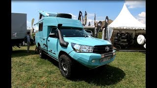 TOYOTA HILUX PICK-UP CAMPER BY AZALAI NEW MODEL 2018 WALKAROUND + INTERIOR