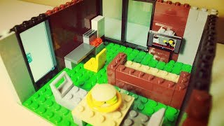 COMO MONTAR UMA CASA DE LEGO COM PEÇAS ALEATÓRIAS E SUA DECORAÇÃO!