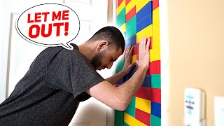 Download I Trapped My Brother With a GIANT LEGO WALL... Mp3 and Videos
