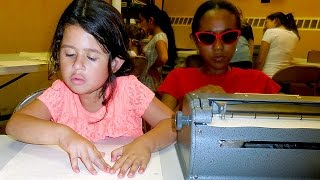 blind students learn braille and more at the nfb bell academy