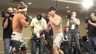 Urijah Faber Taking Care of Biz @UFC128
