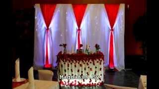 Украшение свадебного зала в красном цвете с лепестками роз, Украшение зала на свадьбу,(, 2013-12-04T07:41:49.000Z)
