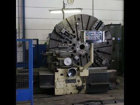 WMW DP3 Facing Lathe in operation