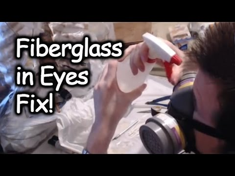 Method to Clean Fiberglass Out of Eyes