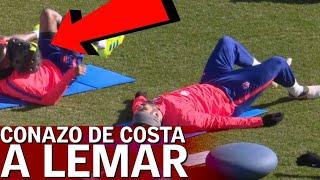 La última de Costa: le tira un cono a la cara a Lemar | Diario AS
