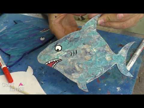 DIY Shark Coasters   Shark Week Inspired   Another Coaster Friday   Craft Klatch