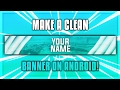 How To Make A Clean Banner On Android! | PS Touch Tutorial [4]